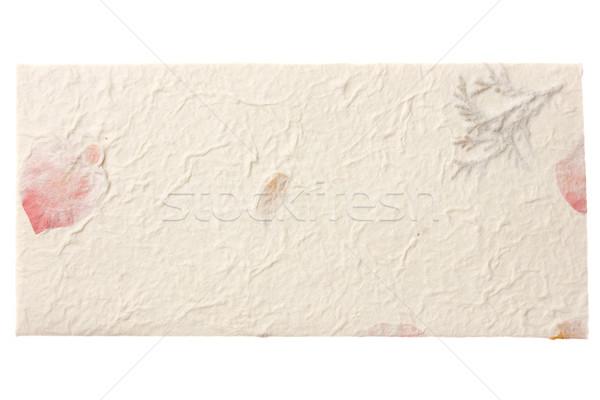 Envelop papier geïsoleerd witte textuur Stockfoto © neirfy