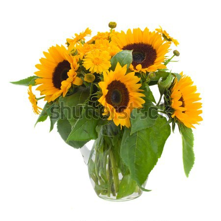 marigold and sunflowers bouquet Stock photo © neirfy