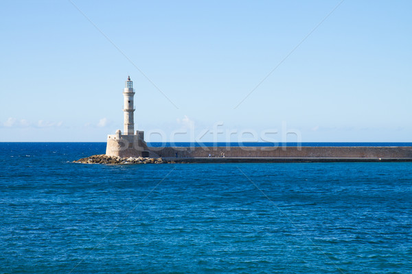 ギリシャ 海 灯台 晴れた 夏 日 ストックフォト © neirfy