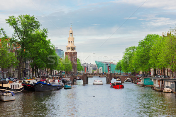 Amstel river, Amstardam, Holland Stock photo © neirfy