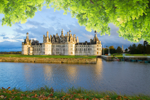 Chambord chateau at sunset, France Stock photo © neirfy