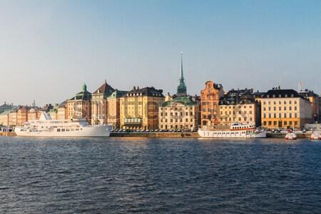Skyline Stockholm Zweden architectuur oude binnenstad Stockfoto © neirfy