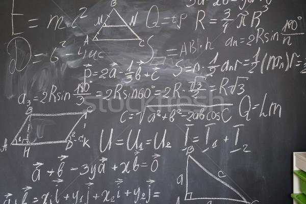Math formule bianco gesso sfondo Foto d'archivio © neirfy