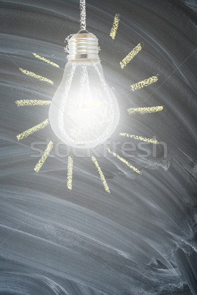 idea concept with light bulb Stock photo © neirfy