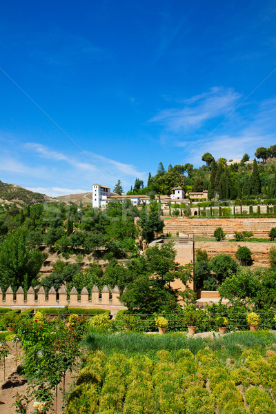 Generalife palace, Granada, Spain Stock photo © neirfy