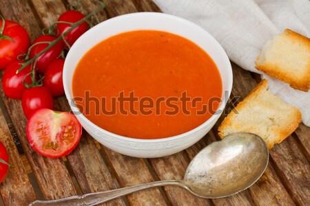 Spanish gazpacho with tomatoes Stock photo © neirfy