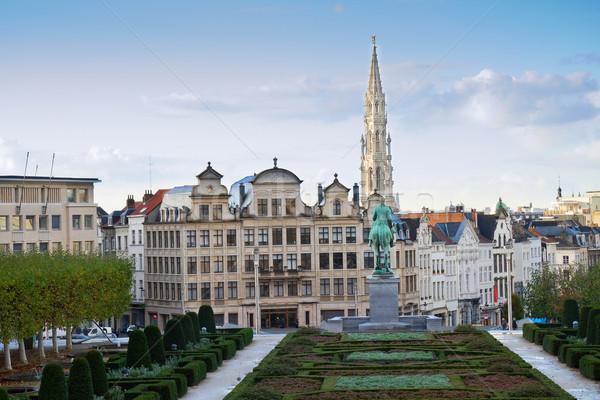 Сток-фото: Брюссель · Cityscape · искусств · Бельгия · небе · здании