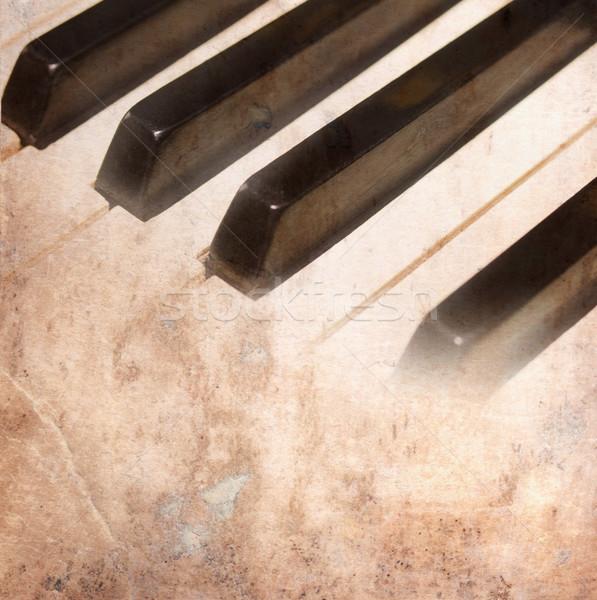 Papier zwart wit pianotoetsen textuur achtergrond Stockfoto © neirfy