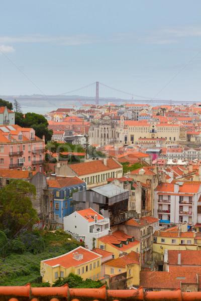 Skyline Lissabon Portugal historisch oude binnenstad stad Stockfoto © neirfy