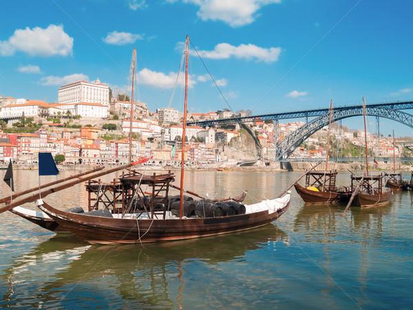 伝統的な ポート ワイン ボート ポルトガル 川 ストックフォト © neirfy