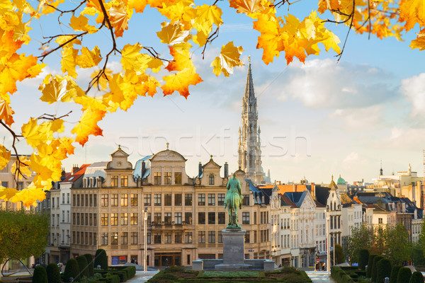 Сток-фото: Брюссель · Cityscape · старые · средневековых · города · осень