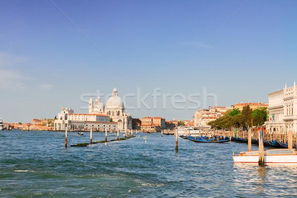 バシリカ サンタクロース ヴェネツィア イタリア 運河 空 ストックフォト © neirfy