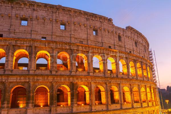 Colosseo Roma Italia dettaglio notte Foto d'archivio © neirfy