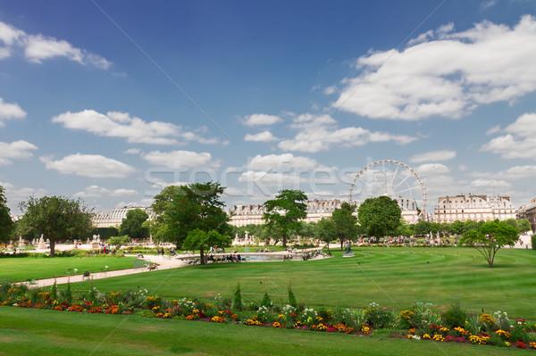 саду Париж лет день зеленый газона Сток-фото © neirfy