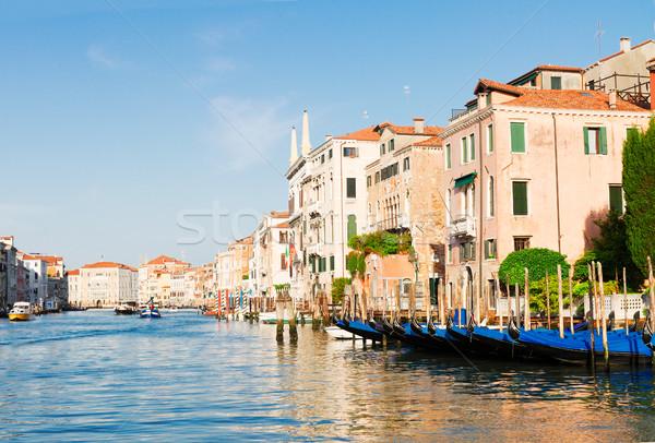Foto stock: Venecia · casa · Italia · colorido · góndola · barcos