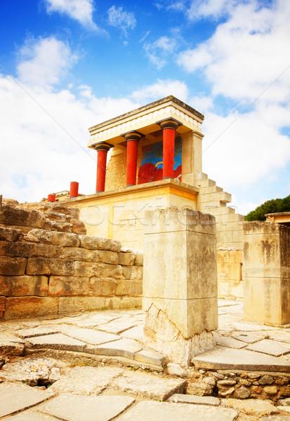 Knossos palace at Crete, Greece Stock photo © neirfy