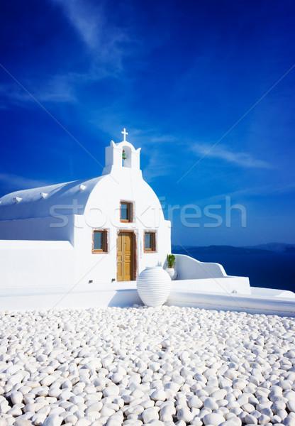 Belo detalhes santorini ilha Grécia típico Foto stock © neirfy