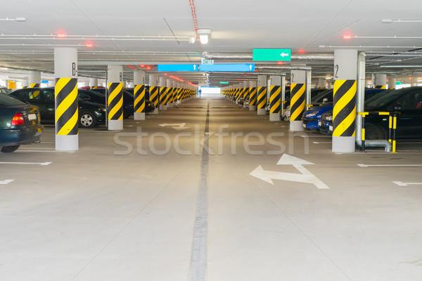 подземных автомобилей стоянки автомобилей здании Сток-фото © neirfy