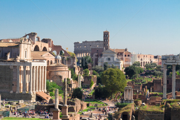 Forum romaine ruines antique colisée Photo stock © neirfy