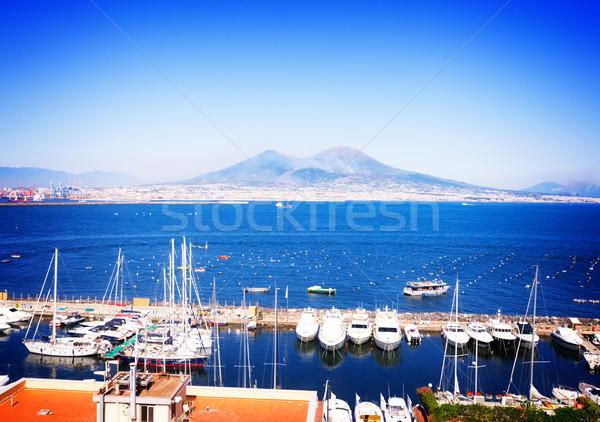 Foto stock: Nápoles · vulcão · Itália · porta · retro · paisagem