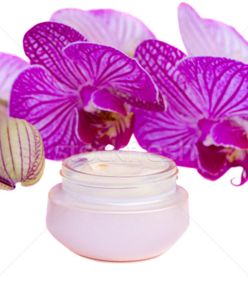 moisturizer cream and orchid Stock photo © neirfy