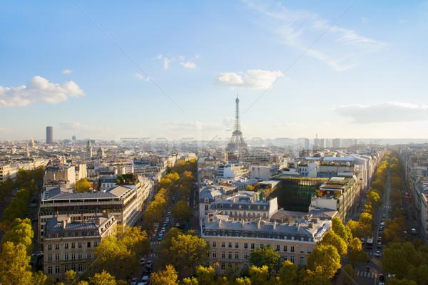 Eiffel tournée Paris Skyline France Photo stock © neirfy