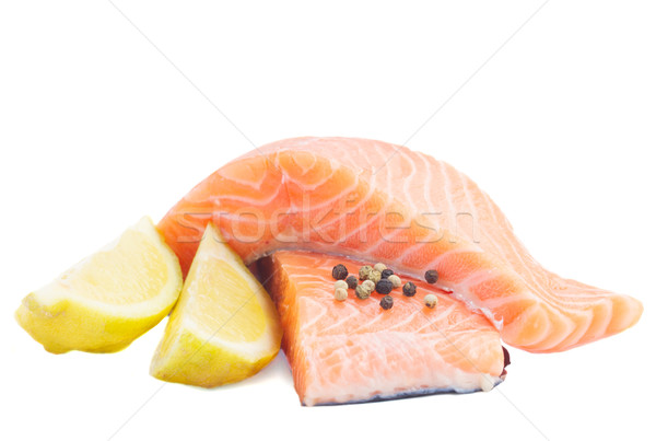salmon steaks Stock photo © neirfy