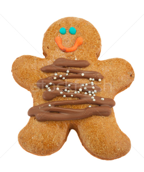 Gingerbread man yalıtılmış beyaz mutlu ev sanat Stok fotoğraf © neirfy