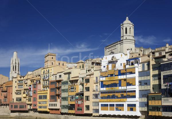 old town of Girona, Spain Stock photo © neirfy