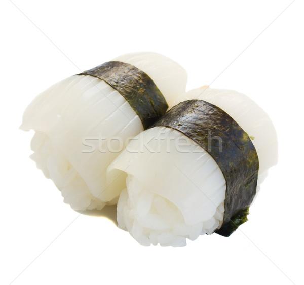 Inktvis sushi vers geïsoleerd witte vis Stockfoto © neirfy