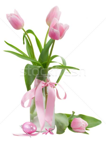 pink tulips posy Stock photo © neirfy