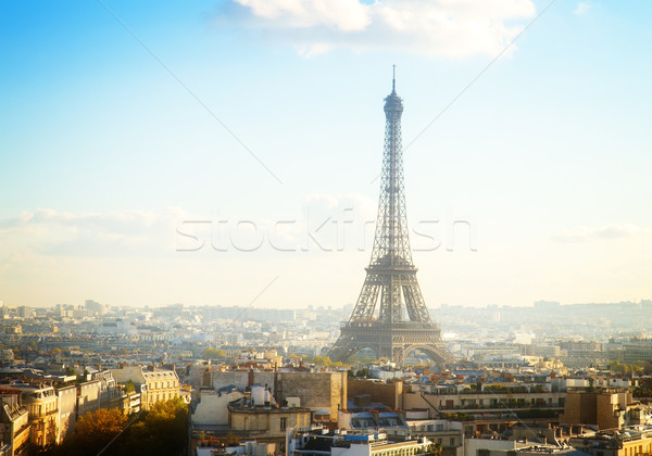Eiffel tournée Paris cityscape France Photo stock © neirfy