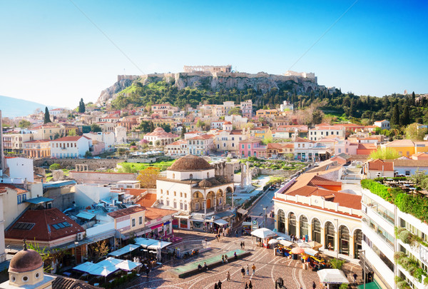 Stock photo: Skyline of Athenth with Acropolis hill