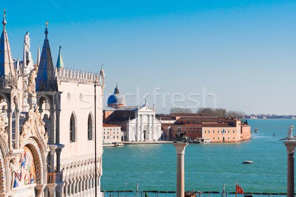 Eiland Venetië Italië paleis gebouw Stockfoto © neirfy