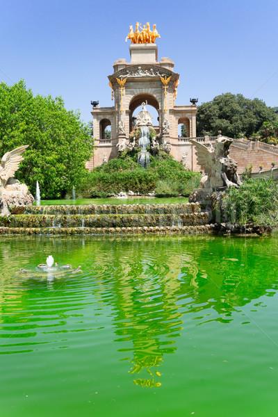 Parc la célèbre Barcelone Espagne Photo stock © neirfy