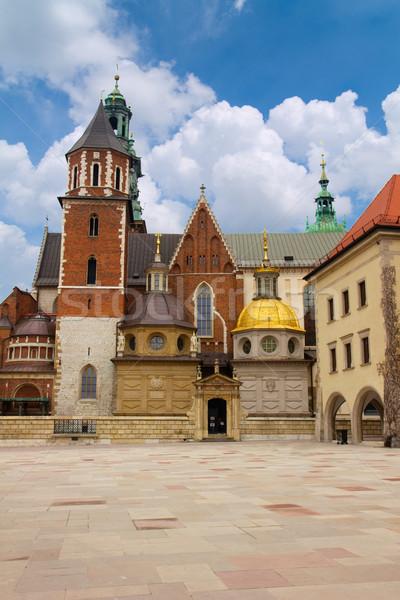 Catedral cracovia Polonia castillo complejo cielo Foto stock © neirfy