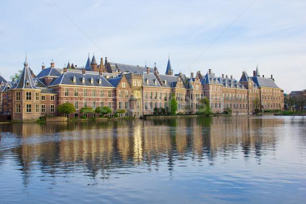 Holland parlament Hollandia iroda ház építkezés Stock fotó © neirfy