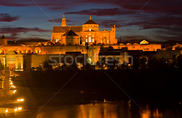 cathedral (Mezquita) of Cordoba at night, Spain Stock photo © neirfy