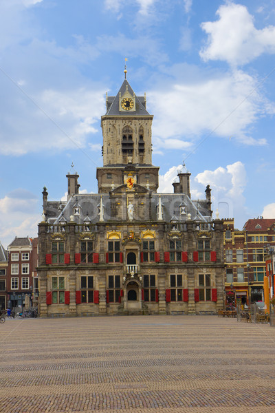 town hall in  Delft, Holland Stock photo © neirfy