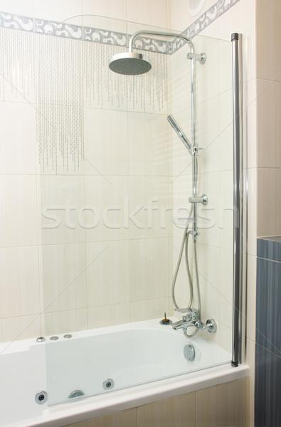 シャワー バス 現代 グレー 白 家 ストックフォト © neirfy
