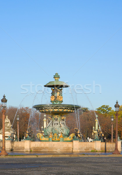 famous fountain on Plac de la Concorde, Paris Stock photo © neirfy