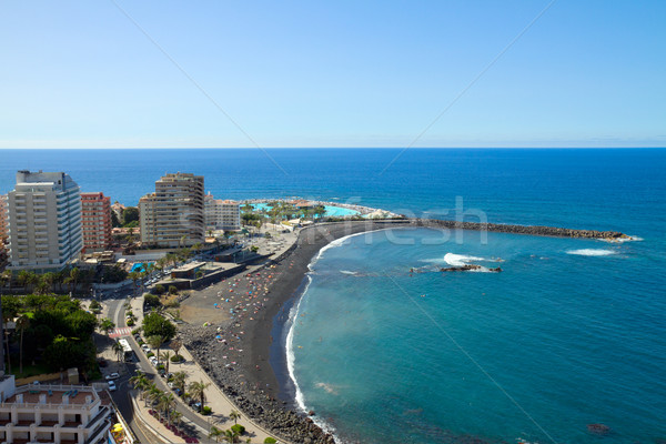 skyline of Puerto de la Cruz, Tenerife, Spain Stock photo © neirfy