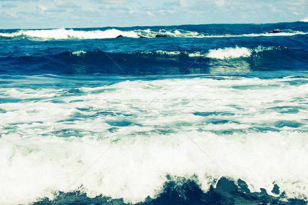storm sea waves Stock photo © neirfy