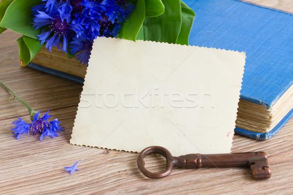 old photo and key Stock photo © neirfy
