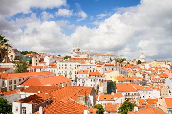 四半期 リスボン ポルトガル 市 背景 ストックフォト © neirfy