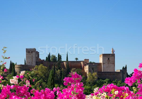 アルハンブラ宮殿 スペイン 夏 日 空 ストックフォト © neirfy