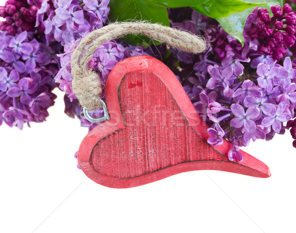 Lilac flowers with heart Stock photo © neirfy
