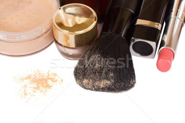 基本 化粧 製品 口紅 国境 孤立した ストックフォト © neirfy