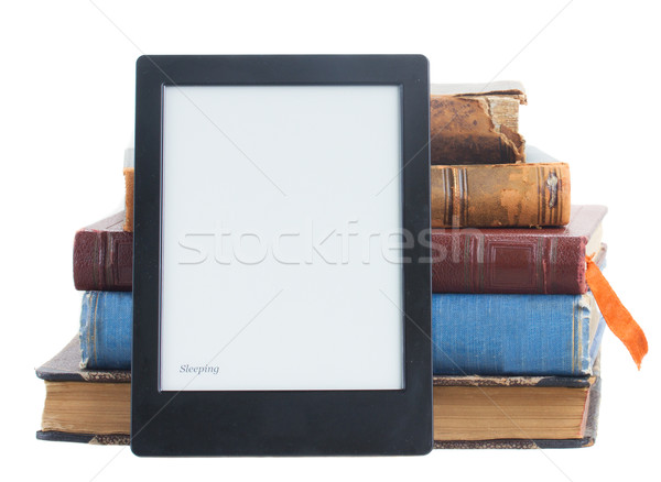 Kitaplar kâğıt kitap yalıtılmış beyaz Stok fotoğraf © neirfy