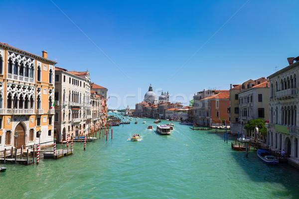 Stock fotó: Csatorna · Velence · Olaszország · városkép · bazilika · mikulás